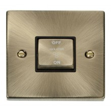 Click Deco Antique Brass 3 Pole Fan Isolator Switch VPAB520BK