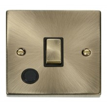 Click Deco 20A Switch Ingot DP c/w Flex Outlet Antique Brass VPAB522BK