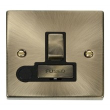 Click Deco Antique Brass Switched Fused Spur + F/O VPAB551BK