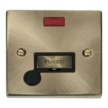 Click Deco Antique Brass Unswitched Spur Neon + F/O VPAB553BK