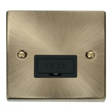 Click Deco Antique Brass Unswitched Fused Spur VPAB650BK