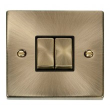 Click Smart Deco Antique Brass 1 Gang 2 Aperture VPABBK-SMART2