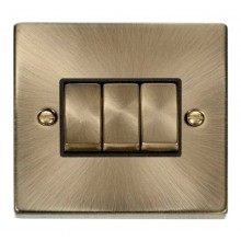 Click Smart Deco Antique Brass 1 Gang 3 Aperture VPABBK-SMART3