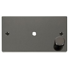 Click Deco Black Nickel Single Dimmer Plate 1000W Max VPBN185
