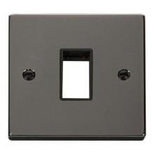 Click Deco Frontplate 1 Gang 1 Aperture Black Nickel VPBN401BK