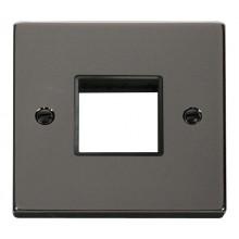 Click Deco Frontplate 1 Gang 2 Aperture Black Nickel VPBN402BK