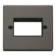 Click Deco Frontplate 1 Gang 3 Aperture Black Nickel VPBN403BK