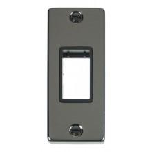 Click Deco Frontplate 1 Gang Single Aperture Architrave Black Nickel VPBN471BK