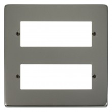 Click Deco Black Nickel 12 Way Mini-Grid Plate VPBN512