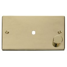 Click Deco Polished Brass Single Dimmer Plate 1000W Max VPBR185