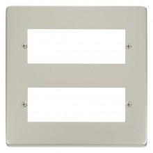 Click Deco Pearl Nickel 12 Way Mini-Grid Plate VPPN512