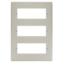Click Deco Pearl Nickel 18 Way Mini-Grid Plate VPPN518