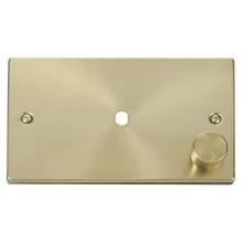 Click Deco Frontplate 2 Gang 1 Module Satin Brass VPSB185
