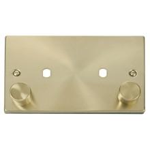 Click Deco Frontplate 2 Gang 2 Module Satin Brass VPSB186