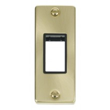 Click Deco Satin Brass 1 Gang Architrave Plate VPSB471BK