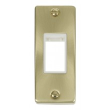 Click Deco Satin Brass 1 Gang Architrave Plate VPSB471WH