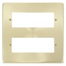Click Deco Satin Brass 2 Tier 12 Module MiniGrid  Plate VPSB512