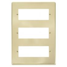 Click Deco Satin Brass 3 Tier 18 Module MiniGrid Plate VPSB518