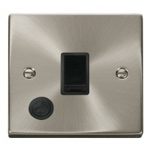 Click Deco 20A Connection Unit Switched Flex Outlet Satin Chrome VPSC022BK