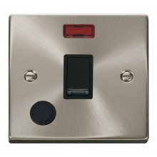 Click Deco 20A Connection Unit Switched Flex Outlet & Neon Satin Chrome VPSC023BK