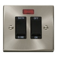 Click Deco Satin Chrome 20A DP Sink/Bath Switch VPSC024BK