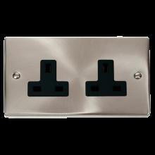 Click VPSC032BK Socket 2Gang 13A SC