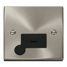 Click Deco Satin Chrome Unswitched Fused Spur + F/O VPSC050BK
