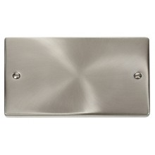 Click Deco Satin Chrome 2 Gang Blank Plate VPSC061