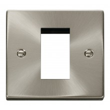 Click Deco Satin Chrome New Media Single Aperture Plate VPSC310