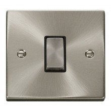 Click Deco 10A Plate Switch 1 Gang 2 Way Satin Chrome VPSC411BK