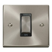Click Deco Satin Chrome 1 Gang 45A Double Pole Switch VPSC500BK