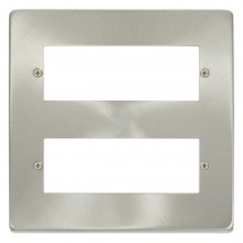 Click Deco Satin Chrome 12 Way Mini-Grid Plate VPSC512