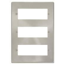 Click Deco Satin Chrome 18 Way Mini-Grid Plate VPSC518