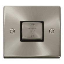 Click Deco Satin Chrome 3 Pole Fan Isolator Switch VPSC520BK