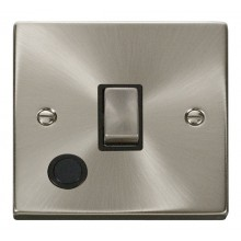Click Deco 20A Switch Ingot DP c/w Flex Outlet Satin Chrome VPSC522BK