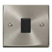 Click Deco Satin Chrome 20A Double Pole Switch VPSC622BK