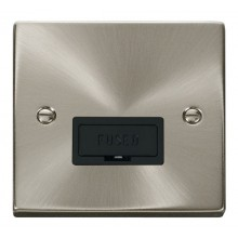 Click Deco Satin Chrome Unswitched Fused Spur VPSC650BK
