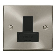 Click Deco Satin Chrome Switched Fused Spur VPSC651BK