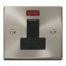 Click Deco Satin Chrome Switched Fused Spur with Neon VPSC652BK