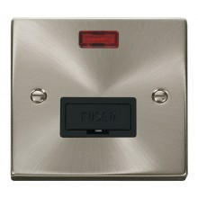 Click Deco Satin Chrome Unswitched Fused Spur + Neon VPSC653BK