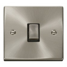 Click Deco Satin Chrome 20A Double Pole Switch VPSC722BK