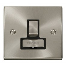 Click Deco Satin Chrome Ingot Switched Fused Spur VPSC751BK