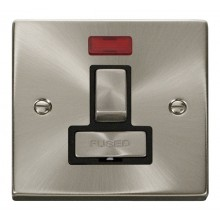 Click Deco Satin Chrome Switched Fused Spur with Neon VPSC752BK