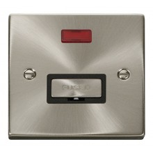 Click Deco Satin Chrome Unswitched Fused Spur + Neon VPSC753BK
