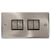 Click Smart Deco Satin Chrome 2 Gang 4 Aperture VPSCBK-SMART4
