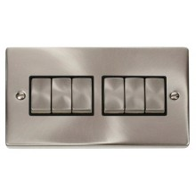 Click Smart Deco Satin Chrome 2 Gang 6 Aperture VPSCBK-SMART6