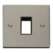 Click Stainless Steel Single Plate 1 Gang Aperture VPSS401BK