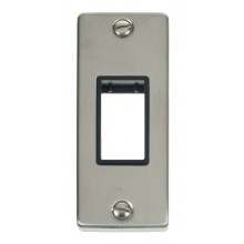 Click Deco Stainless Steel 1 Gang Architrave Plate VPSS471BK