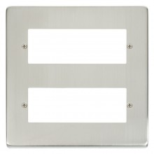 Click Deco Stainless Steel 12 Way Mini-Grid Plate VPSS512