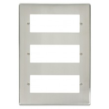 Click Deco Stainless Steel 18 Way Mini-Grid Plate VPSS518